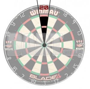 Sektor punktowy na tarczy dart